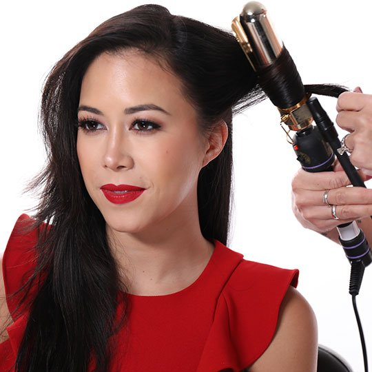 curling iron styling old hollywood waves