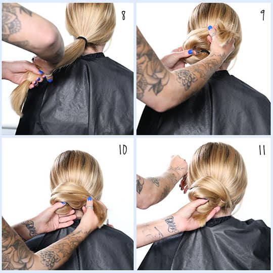 how to style a chignon