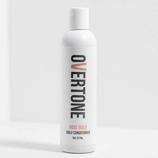 overtone rose gold color depositing conditioner
