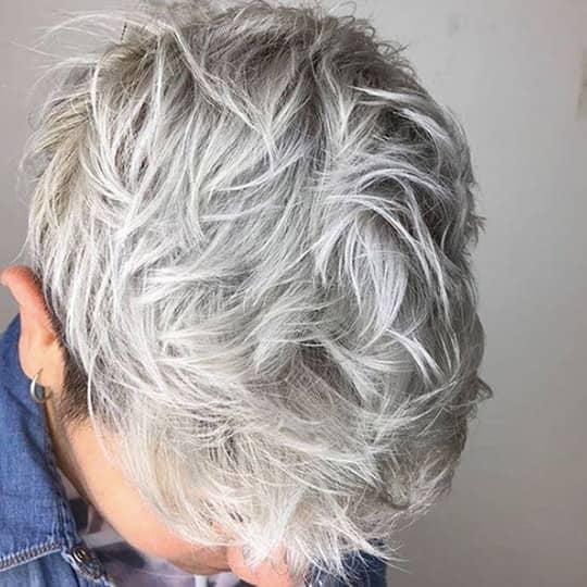 Haircuts for Receding Hairline Short Shag