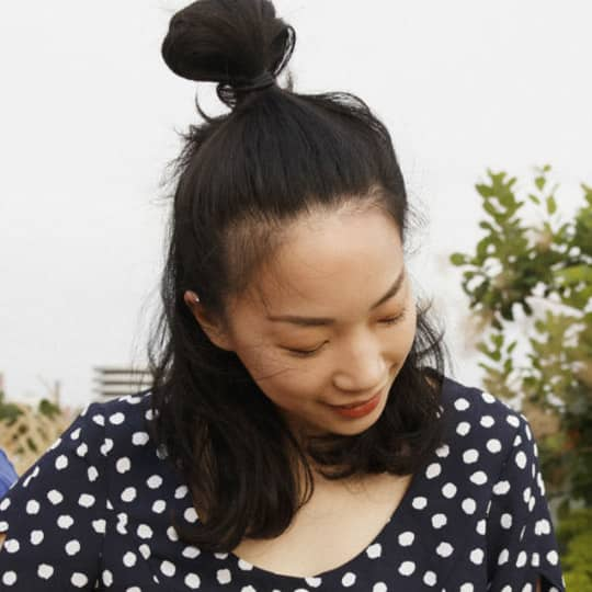 half updo knot hairstyle
