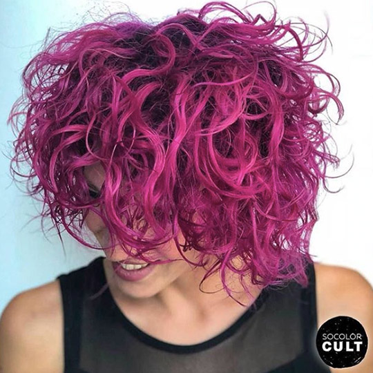 festival hairstyles magenta wash and go