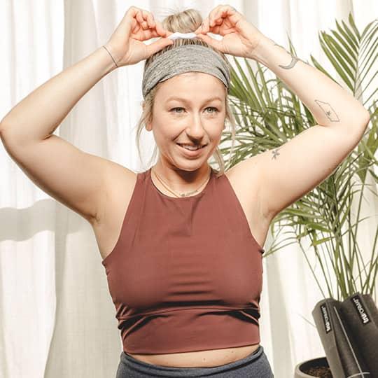 gym hair bun