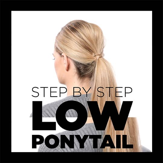 how to style a low ponytail