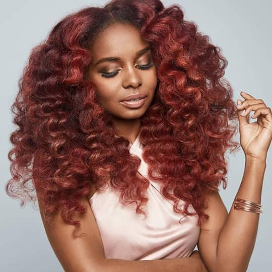Burgundy hair for hazel eyes