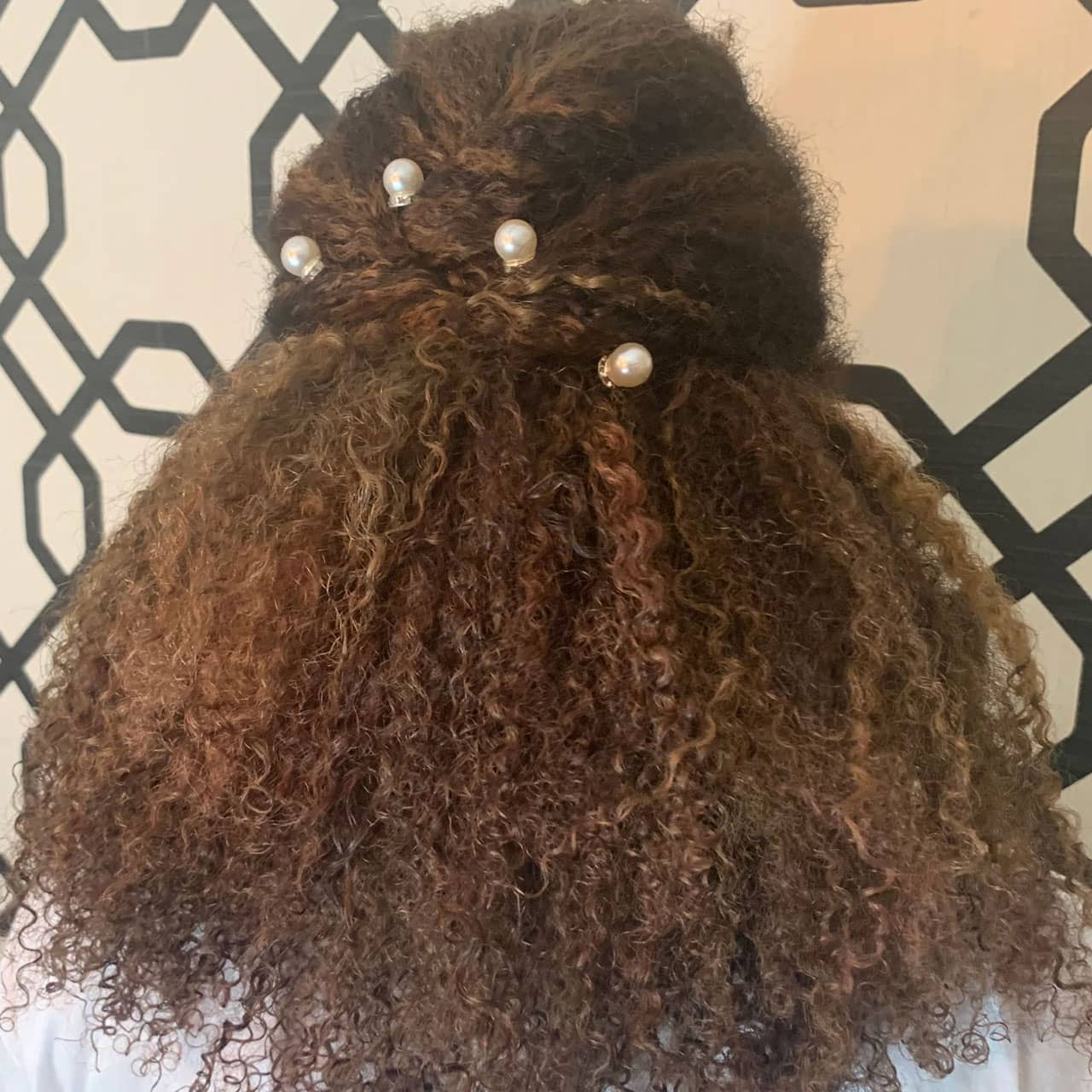 half up twist natural hair for wedding