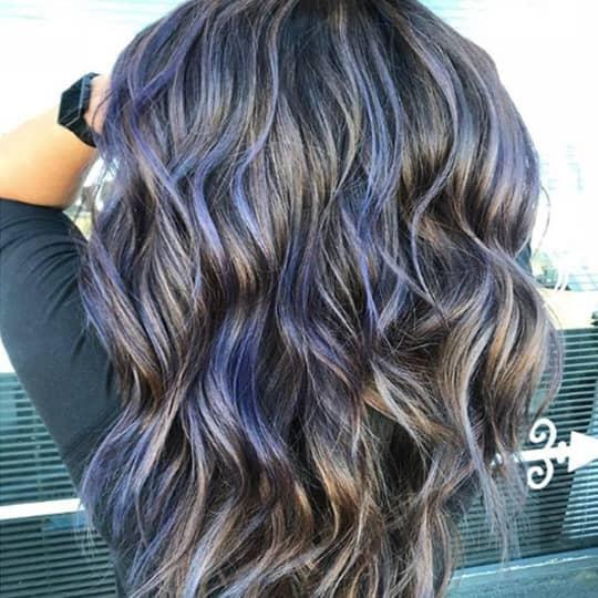 metallic hair color highlights