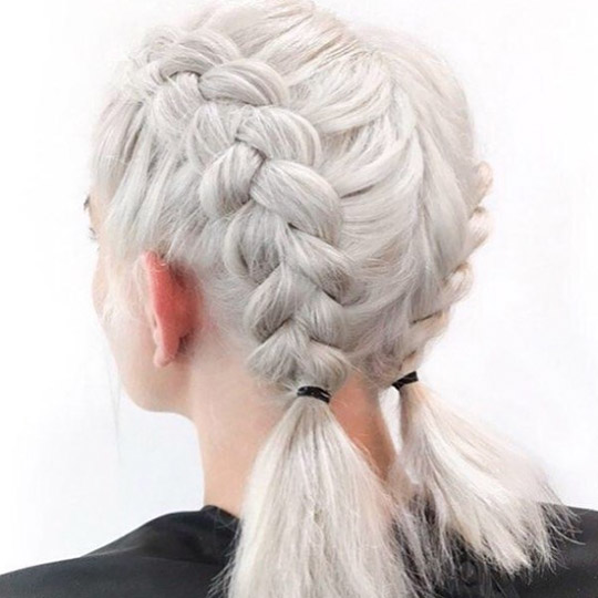 festival hairstyles  double dutch pigtails