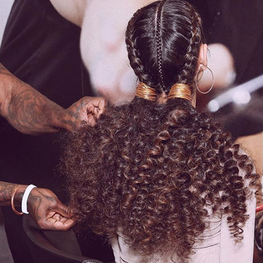 festival hairstyles three braid pigtails