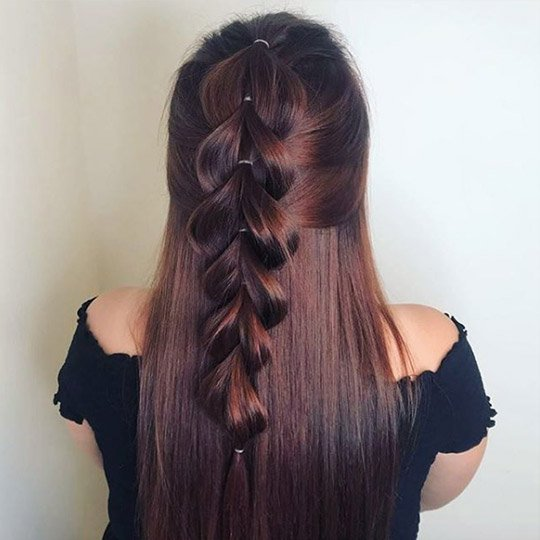 festival hairstyles french pull through braid
