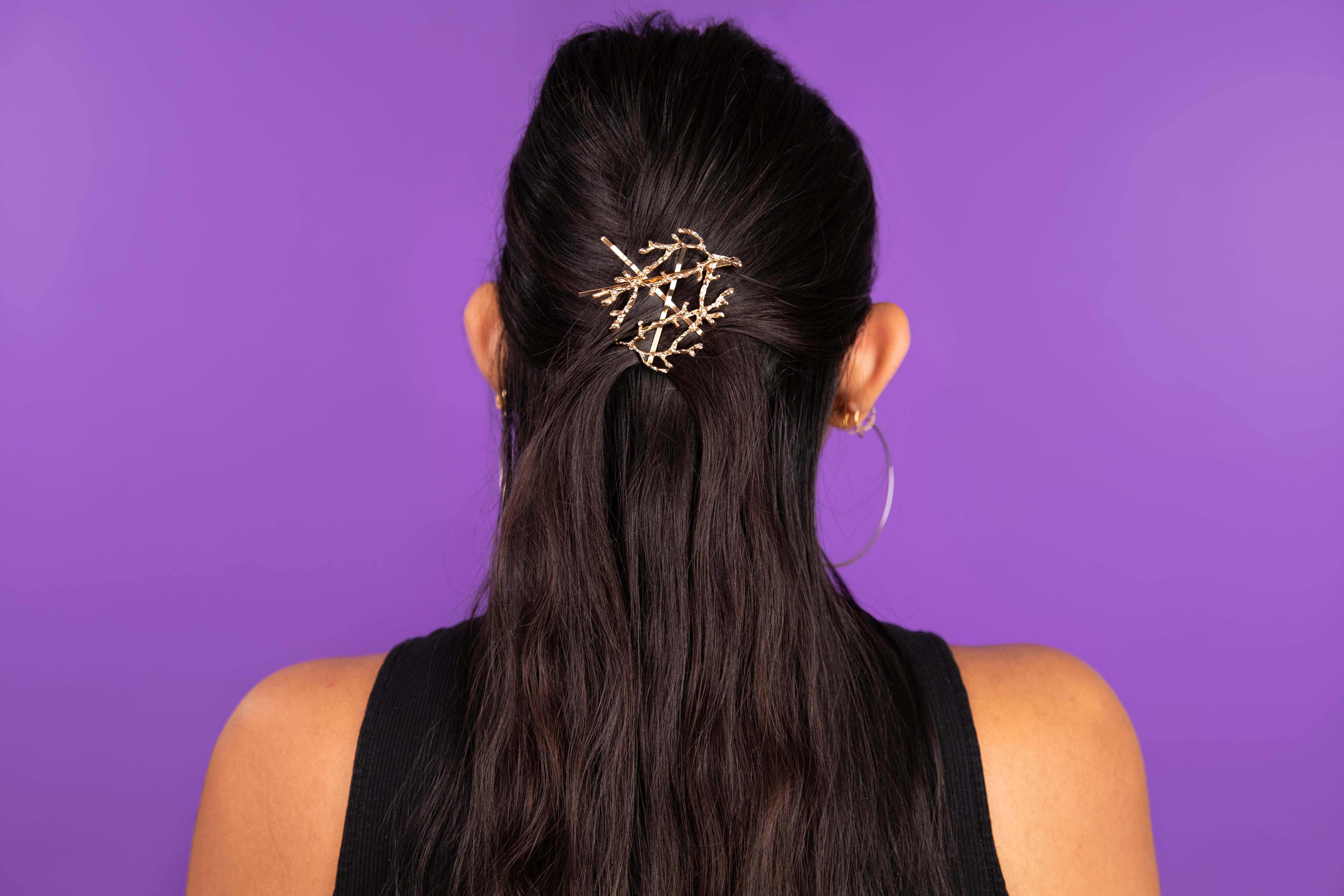 holiday hair accessories branch pin