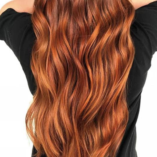 picture of red hair balayage