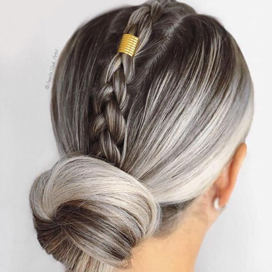 festival hairstyles faux hawk bun