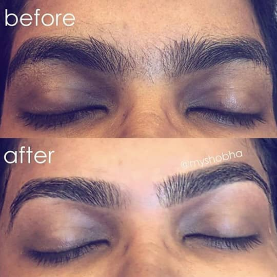 threaded eyebrows