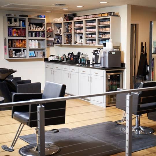 Inside of Chemistry Hair Salon