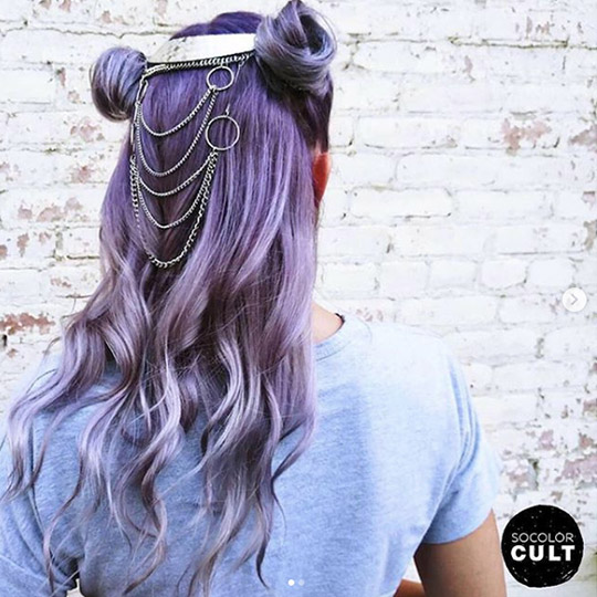 festival hairstyles lilac buns with accessories