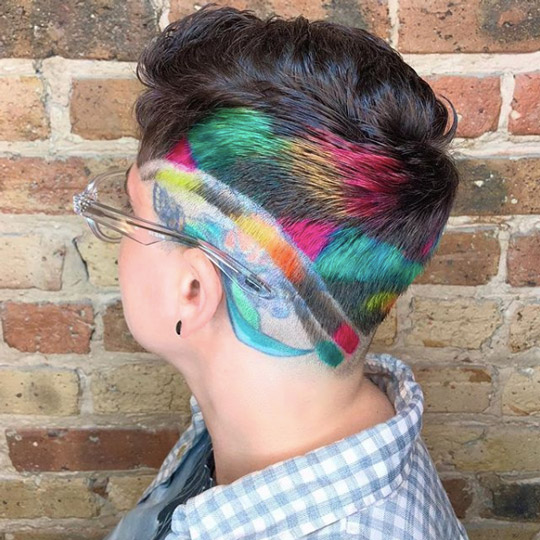 Multi-colored androgynous