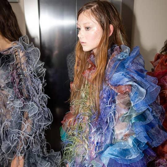 Mary Katrantzou fashion week hair color