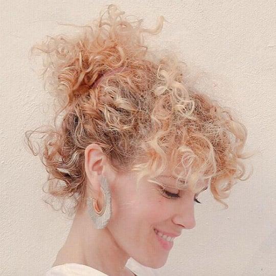 festival hairstyles messy bun