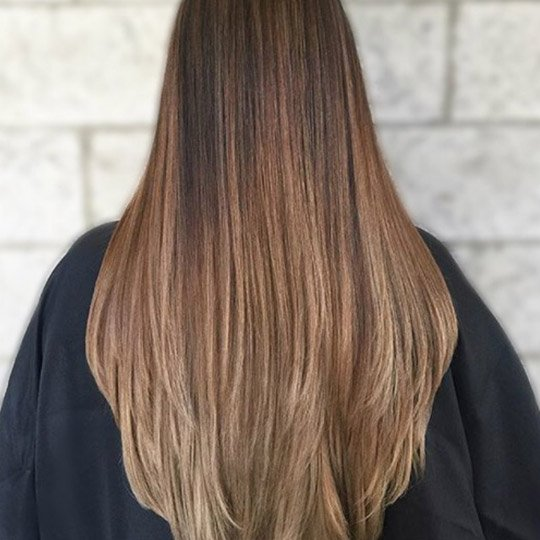 photo of long layers hairstyle