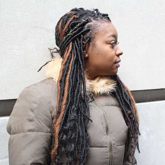 half up faux locs hairstyle