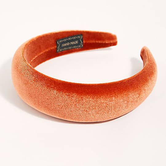 photo of orange padded headband