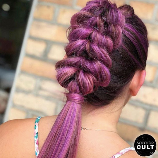 festival hairstyles french pull through ponytail