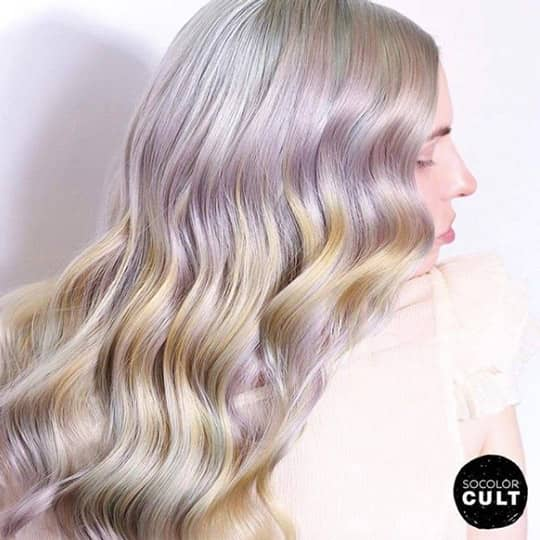 faded pastel hair color