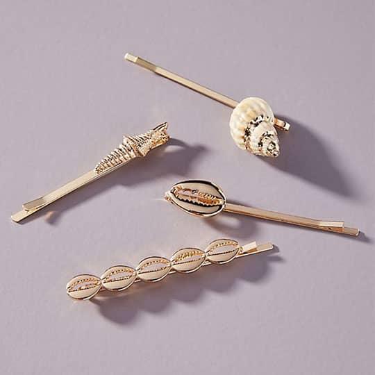 seashell hair bobby pin