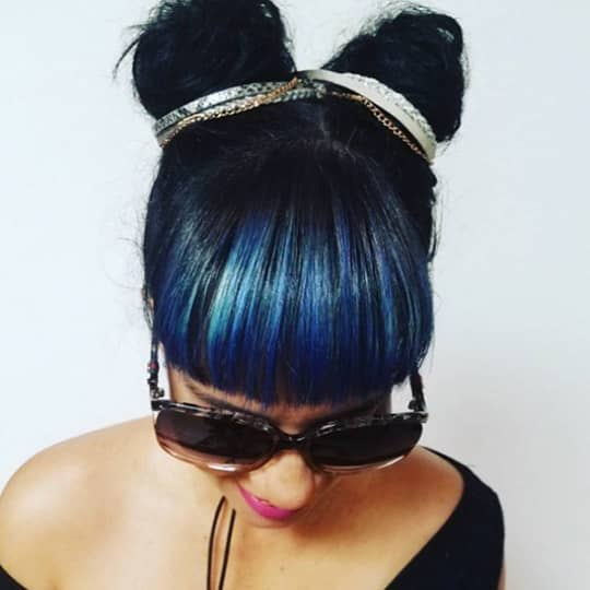 Girl with bold buns