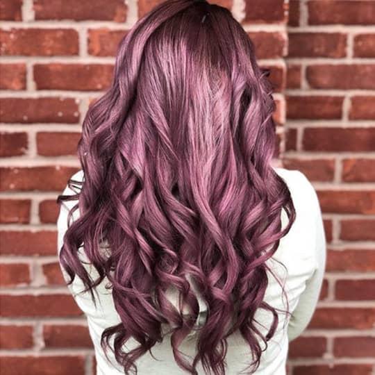 metallic hair color berry