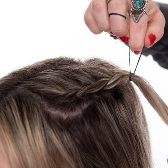 Festival braided space buns tutorial