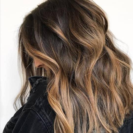 hair ribboning highlights