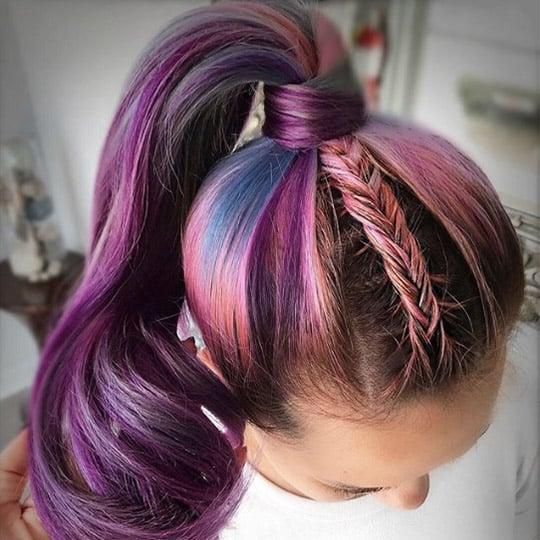festival hairstyles unicorn braided pony