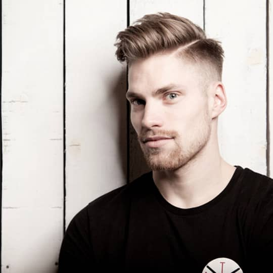 photo of classic taper fade hairstyle