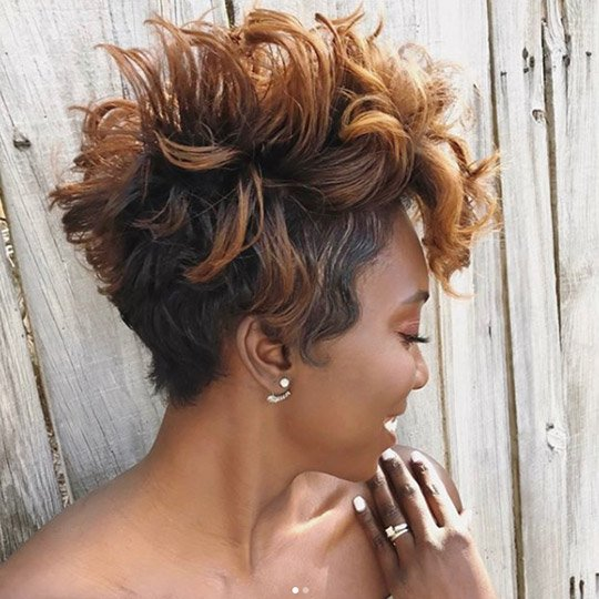 photo of textured pixie hairstyle