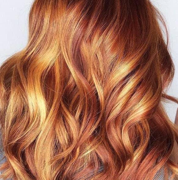 tangerine pastel hair