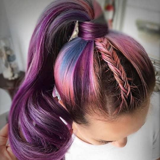 Braided accent ponytail