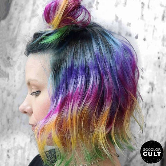 festival hairstyles half up top knot