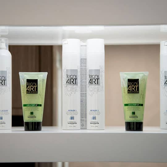 products at salon studio seven