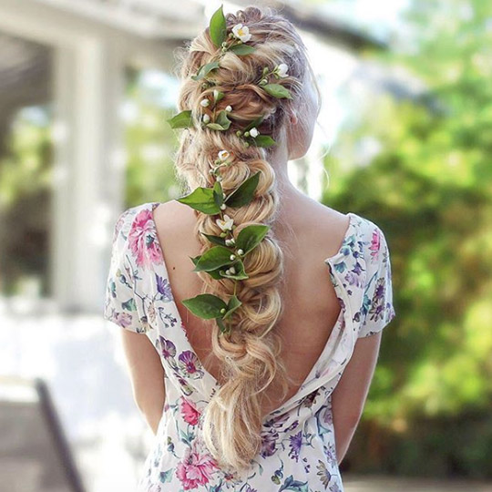 festival hairstyles grecian floral braid