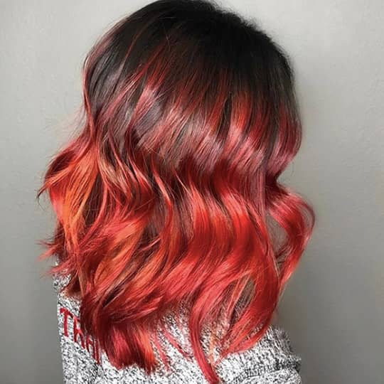 metallic hair color red