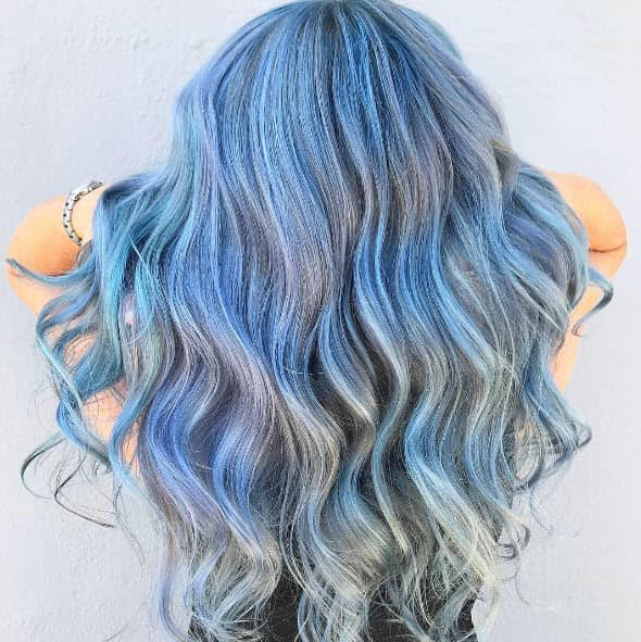 mint and blonde pastel hair