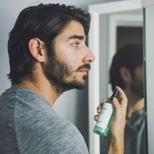 Man with side part
