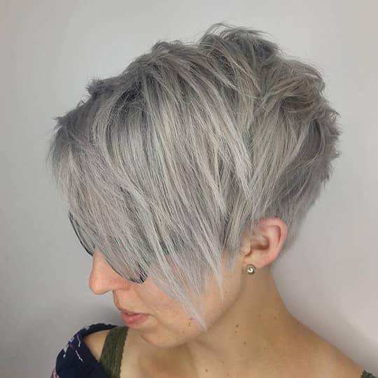 woman with tapered pixie hairstyle